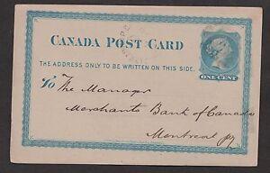 1879 . Charlottetown, P.E.I. Br. Ci. AU 12'  Merchants Bank of Halifax postal st