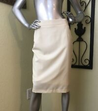 Rare H&M M BY MADONNA 100% Wool Cream Pencil Skirt, Size 8 EUC Made in Romania