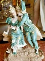 Antique Ernst Wahliss Turn Wien Porcelain Figurine, Courting Couple.