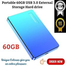 Portable 60 GB External Hard Drive USB 3.0 Storage Device for Computer PS4 Xbox