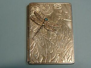 Sterling Silver Decorative Dbl. Picture Frame Flowers Dragonfly Opens Like Book
