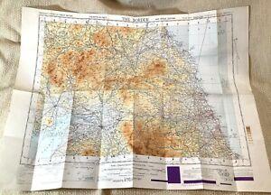 1948 Military Map of Scottish Border England Scotland War Office MOD Issue