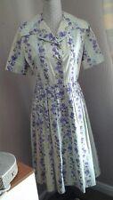 vintage original 1950s floral button thru dress Size 10