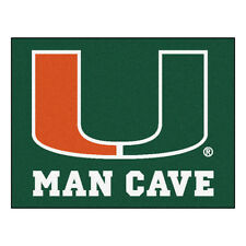 FANMATS 14665 University of Miami Nylon Universal Man Cave All-Star Mat