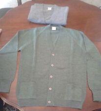 n. 2 Pullover  lana/acrilico 4 misura marca Roby grigio e verde