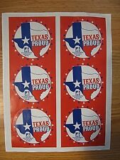 WOODFOREST NATIONAL BANK TEXAS PROUD Stickers 6 pieces