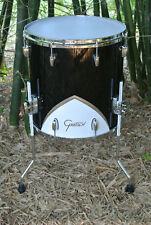 "GRETSCH 16"" RENOWN '57 MOTOR CITY FLOOR TOM in BLACK for YOUR DRUM SET! #B844"