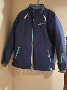 Klim Womens Allure Snowmobile Coat Jacket Insulated Blue Size Medium