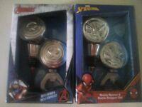 Marvel Avengers Captain America and Spider Man Bottle Opener & Stopper Set - New