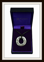 CELTIC OGHAM  ' BLESSED BE '  RING PEWTER PENDANT NECKLACE ~ FROM ST. JUSTIN