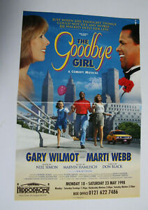 THE GOODBYE GIRL 1998 Theatre Poster SIGNED by MARTI WEBB & GARY WILMOT
