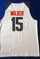 2019 China Kemba Walker #15 USA Team Basketball Jerseys White Blue Hot Pressed