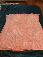 "Pottery Barn ""Farrah Medallion - Coral"" Euro Pillow Sham"
