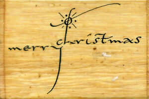 STAMP IT - (MERRY CHRISTMAS) Wooden Rubber Stamp