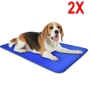 2X LARGE SELF COOLING COOL GEL MAT PET DOG CAT HEAT RELIEF NON-TOXIC SUMMER