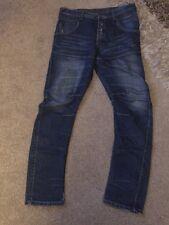 """Beck & Hersey Hombre Zanahoria Ajuste Jeans Ajustados W32"""" largo 32""""."""