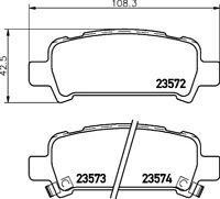 Mintex Rear Brake Pad Set MDB1999  - BRAND NEW - GENUINE - 5 YEAR WARRANTY