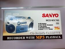 Sanyo Mx-780 Portable Stereo Cd/Cd-R/Cd-Rw Radio Cassette Recorder with Cd/Mp3