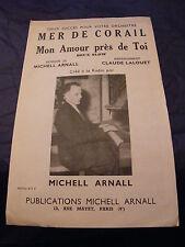 Partition Mer de Corail Mon amour près de toi Michell Arnall