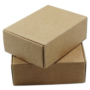 Kraft Paper Brown Gifts Box Wedding Handmade Soap Candy Party Packaging Boxes