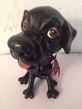 Labrador Porzellan Figur, Arora Design (Original), Schwarz, Jet,