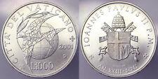 1000 LIRE 2001 Giovanni Paolo II A. XXIII Città del Vaticano Argento #3810A