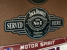JACK DANIELS SERVED HERE METAL MADE TUFF TIN SIGN  MAN CAVE HOT ROD