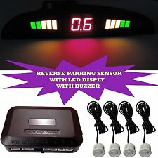 FYLFOT REVERSE PARKING SENSOR SECURITY WITH LED DISPLAY & BUZZER WHITE.