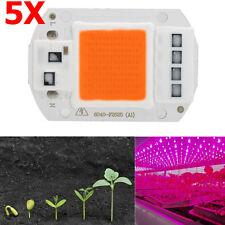 5PCS Genuine DRIVERLESS Full Spectrum COB LED Chip 50W Plant Grow Light 220v