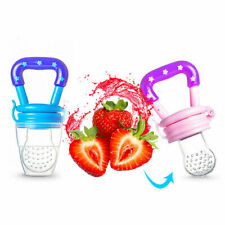 Baby Feeding Dummy Nibbles Weaning Nutrition Pacifier Fresh Food Fruit Feeder