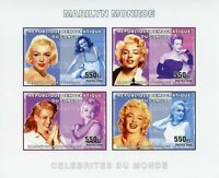 Congo Marilyn Monroe Stamps 2006 MNH Celebrities Famous People 4v IMPF M/S
