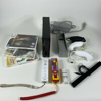 Wii console bundle black w/ games (UNTESTED AS IS) for parts repair