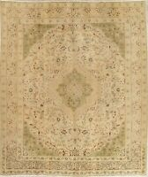 "Antique 10x12 Handmade Wool Muted Floral oriental Area Rug 12'2"" X 9'7"""