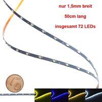 Mini LED Lichterkette nur 1,5mm schmal 50cm 72 LEDs Kirmes Markt Häuser Waggons