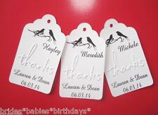 10 Kraft White Gift Place Tags Wedding Favour Place Cards Bomboniere Escort Card