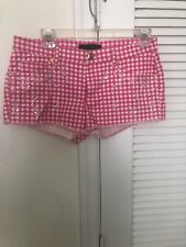Juicy Couture Shorts Multi Colored Bejeweled Daisy Shorts Size 2