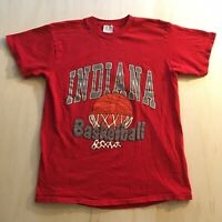 VTG 90s Indiana Hoosiers T-Shirt Mens XL Basketball University College Red 80s