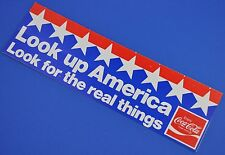 Large Coca Cola Coke Stickers USA 1980er Sticker Decal - Look up America