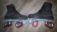 Rollschuhe Disco Roller-Skates Gr. 42. Klettverschluß schwarz. Schuhe tauschbar.