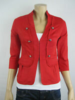 Crossroads Ladies 3/4 Sleeve Military Jacket sizes 8 10 12 14 16 18 20 22 Red