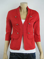 Crossroads Ladies Red Military Jacket Size 16 - More Like 12/14