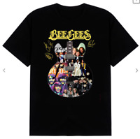 new Rare Bee Gees Guitarist Band Signatures funny vintage girf tee t-shirt s-5xl