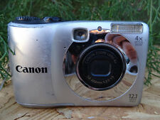 Canon PowerShot A1200 12.1MP Digital Camera - Silver w/ Batteries + USB Cable