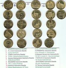 22 verschiedene 2 Zl Muenzen aus dem Jahr 2007, Golden Nordic BFR,