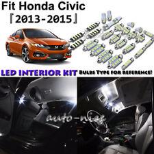 6x White LED Interior Lights Package Kit For 2013 2014 2015 Honda Civic