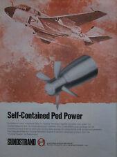 8/1975 PUB SUNDSTRAND RAM AIR TURBINE GENERATOR POD GRUMMAN PROWLER ORIGINAL AD