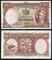 NEW ZEALAND 10 Shillings 1967 P-158d AUNC About Uncirculated