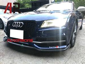 For 12-15 AUDI S7 & A7 S-Line Only P Style Carbon Fiber Front Bumper Spoiler Lip