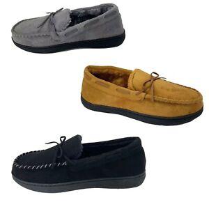Men's House Shoe Fur Indoor Outdoor Anti-Slip Moccasin Slippers 8-13 Size