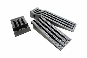 CAR VEHICLE LOW PROFILE DRIVE ON RAMPS ONE PAIR SET OF 2 8 TON 16000 LB CAPACITY